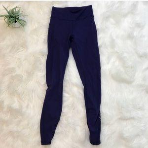 Lululemon mesh purple leggings